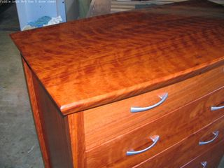 Fiddle back Red Gum 5 draw chest